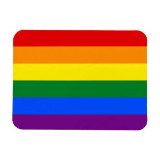 Raya de la bandera del arco iris del orgullo gay d imán de vinilo
