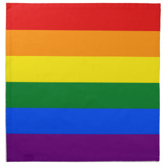 Raya de la bandera del arco iris del orgullo gay d servilletas