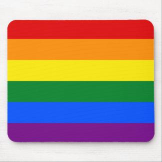 Raya de la bandera del arco iris del orgullo gay d alfombrilla de raton