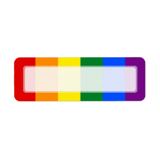 Raya de la bandera del arco iris del orgullo gay etiqueta de remitente