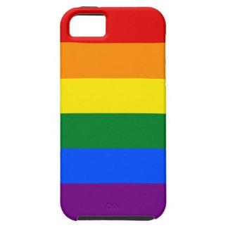 Raya de la bandera del arco iris del orgullo gay iPhone 5 fundas