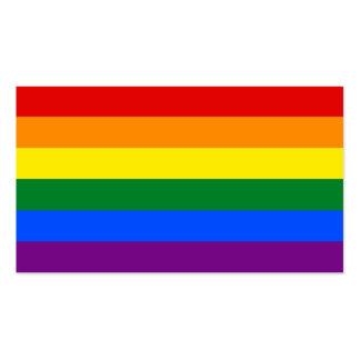 Raya de la bandera del arco iris del orgullo gay tarjetas de visita