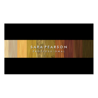 Raya de madera llamativa BusinessCard del panel Tarjetas De Visita