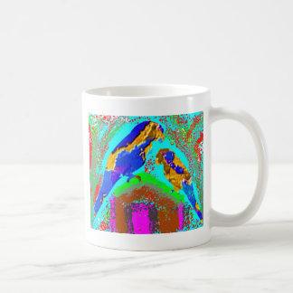 Raya de oro - loro del bebé de la mamá n taza de café