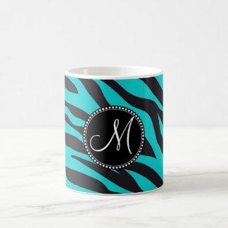 Raya del animal salvaje del estampado de zebra del taza de café