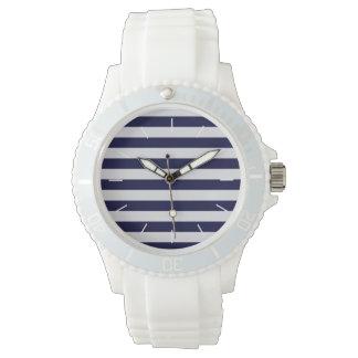 Raya del azul marino/blanca náutica reloj