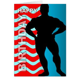 Raya del Bodybuilder de la tarjeta de cumpleaños
