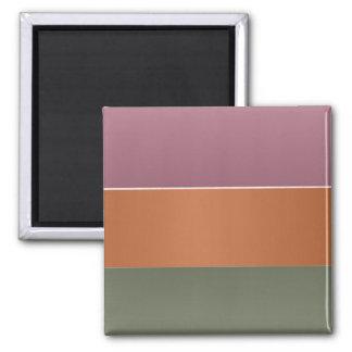 Raya del color del final de tres metales - añada imán cuadrado