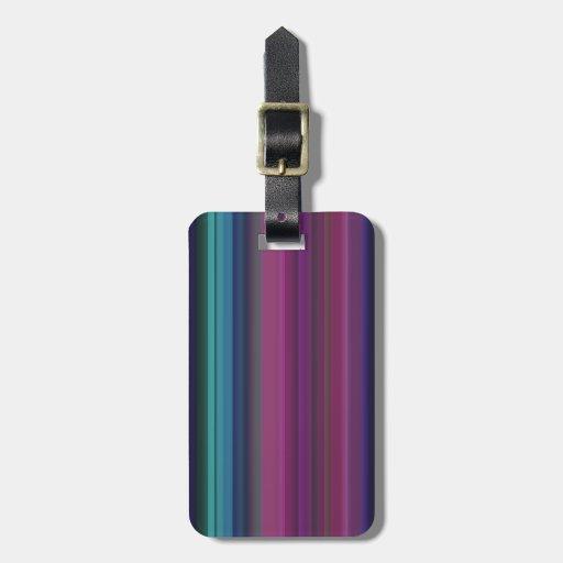 raya del color (fresca) etiquetas de maletas