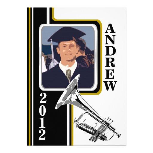 Raya del oro de la graduación de la foto de la tro