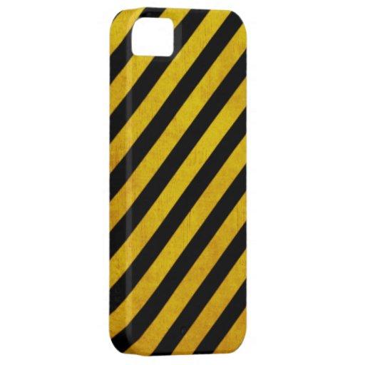 Raya del peligro del Grunge iPhone 5 Carcasas
