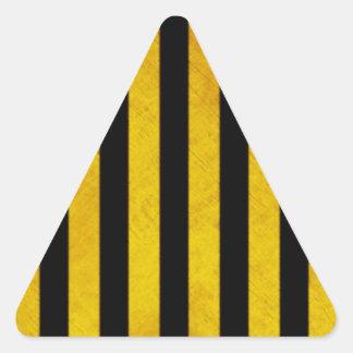 Raya del peligro del Grunge Pegatina Triangular
