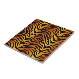Raya del tigre azulejo cuadrado pequeño