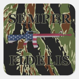 Raya del tigre del pegatina de Semper Fidelis M16