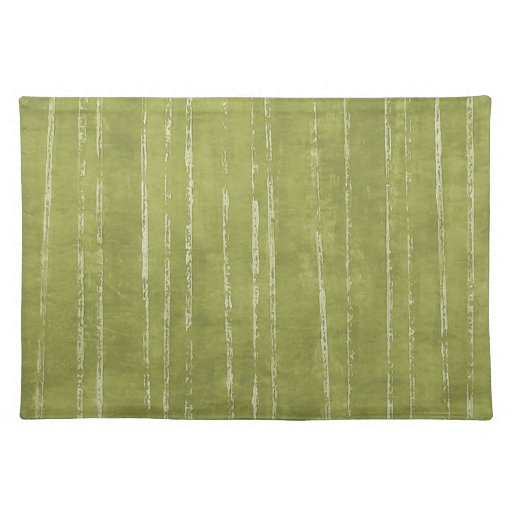 Raya del verde verde oliva y del blanco manteles individuales