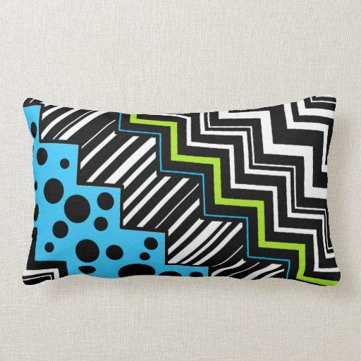 Raya del zigzag almohadas