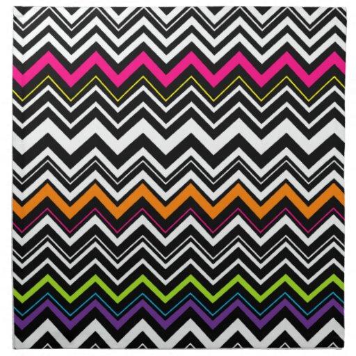 Raya del zigzag servilleta imprimida