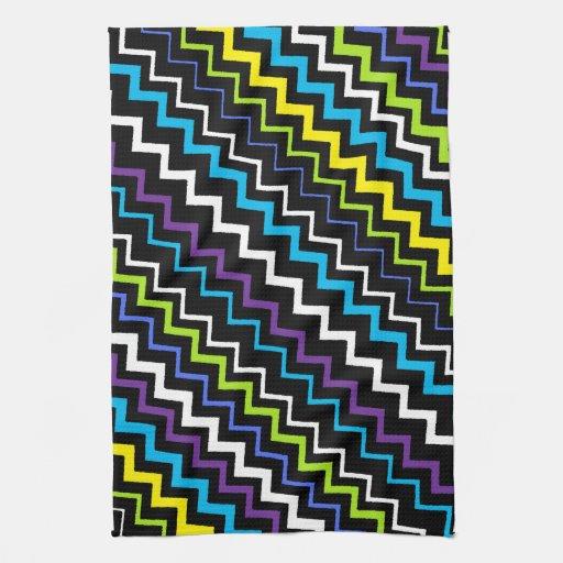 Raya del zigzag toallas de cocina