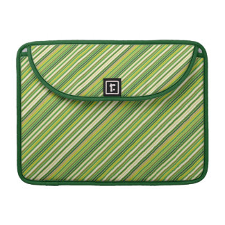 Raya diagonal blanca del oro verde fundas para macbooks