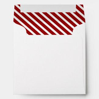 Raya diagonal blanca roja #2 SQ