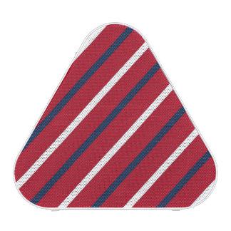 Raya diagonal del rojo, blanca y azul altavoz bluetooth
