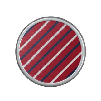 Raya diagonal del rojo, blanca y azul altavoz con bluetooth