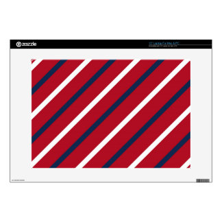 Raya diagonal del rojo, blanca y azul portátil 38,1cm skin