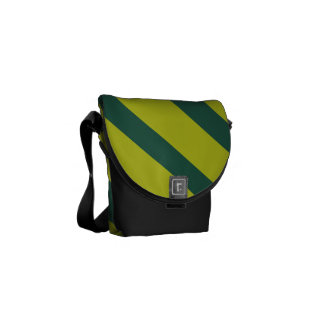 Raya diagonal verde bolsas messenger