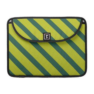 Raya diagonal verde funda para macbooks