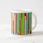 Raya el fondo abstracto colorido del modelo, regal taza jumbo