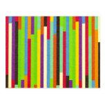 Raya el fondo retro abstracto colorido del modelo postal