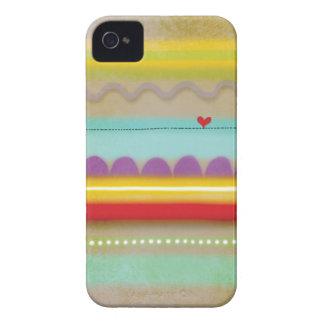 Raya el iphone ilustrado corazón 4 del caso - 4s iPhone 4 Case-Mate cárcasas