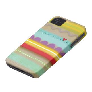 Raya el iphone ilustrado corazón 4 del caso - 4s iPhone 4 Case-Mate coberturas