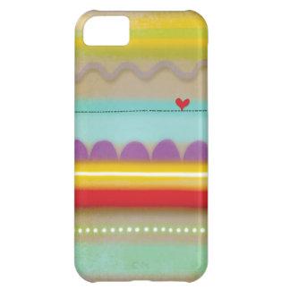 Raya el iphone ilustrado corazón 5 del caso - funda para iPhone 5C