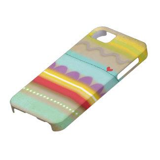 Raya el iphone ilustrado corazón 5 del caso - iPhone 5 fundas