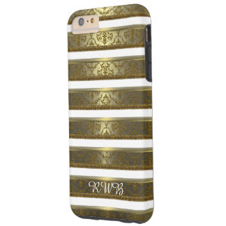Raya elegante del damasco de Raylah más Funda De iPhone 6 Plus Tough