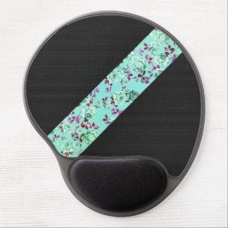 Raya floral de la aguamarina de moda moderna femen alfombrillas de ratón con gel