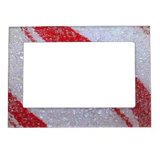 Raya helada del navidad marcos magnéticos para fotos