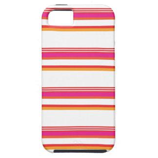 Raya horizontal anaranjada magenta iPhone 5 carcasa