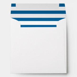 Raya horizontal azul y blanca