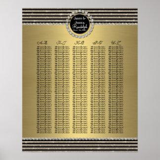 Raya horizontal - carta del asiento de la tabla de posters