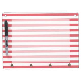 Raya horizontal color de rosa y blanca pizarra blanca