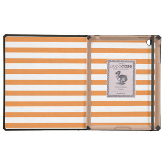 Raya horizontal del naranja y blanca