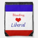 Raya liberal Backback del corazón sangrante