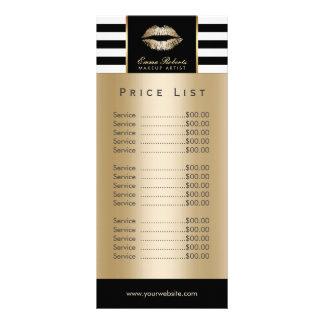 Raya moderna de los labios del oro del artista de diseño de tarjeta publicitaria
