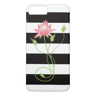 Raya moderna rosada de Lotus floral Funda iPhone 7 Plus