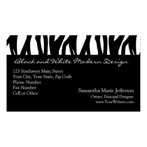 Raya modernista blanco y negro tarjetas de visita
