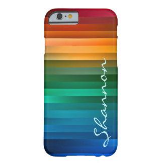 Raya multicolora de encargo de la cinta funda para iPhone 6 barely there