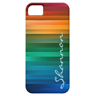 Raya multicolora de encargo de la cinta iPhone 5 carcasas