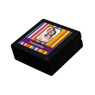 Raya multicolora del caramelo caja de recuerdo